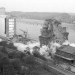 1971 Explodiertes Silo im Nordhafen wird gesprengt